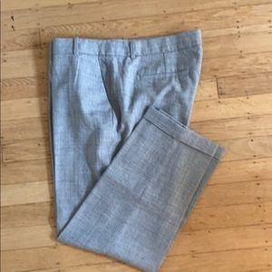 JCrew 100% wool light gray size 12 wool trousers